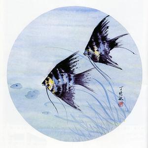 双鱼画法手绘图