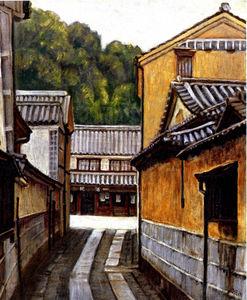 作品名称:巷道/艺术家:蔡铃代/[水彩][油画][素描]1944年生 台北人